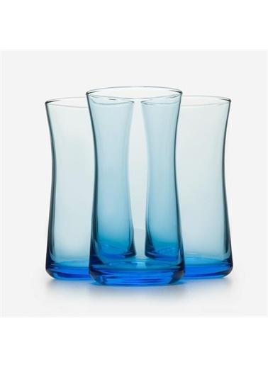 Paşabahçe Paşabahçe 3'lü Haybeli Mavi Meşrubat Bardağı 420845 Renkli